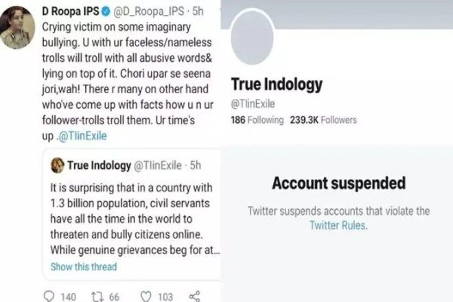 Twitter suspended True Indology account