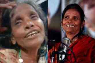 ranu mondal Duplicate lady sing teri meri kahani song on social media video viral