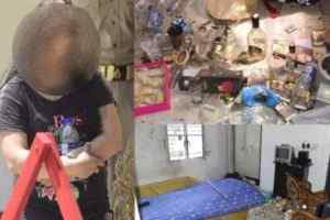 drunk lady vandalizes neighbor's house in lucknow