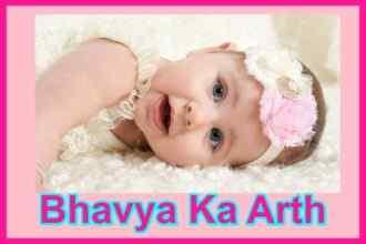 भावया नाम का अर्थ Bhavya Naam Ka Arth